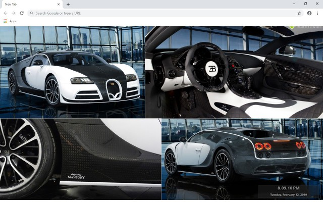 Bugatti Veyron Monsory Vivere New Tab Theme