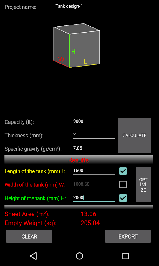 Tank Volume Weight Calculator Android Apps On Google Play
