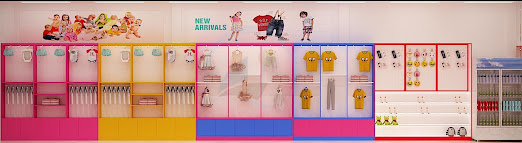 thiết kế shop thời trang mẹ và bé giá rẻ