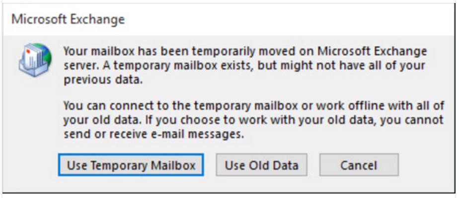 "[Solved] Microsoft Outlook Error ""mailbox has been temporarily moved on Microsoft Exchange server"""