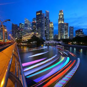 by Vince Chong - City,  Street & Park  Skylines ( night, lights )