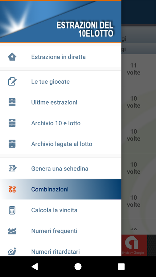 estrazioni del 10 e lotto android apps on google play