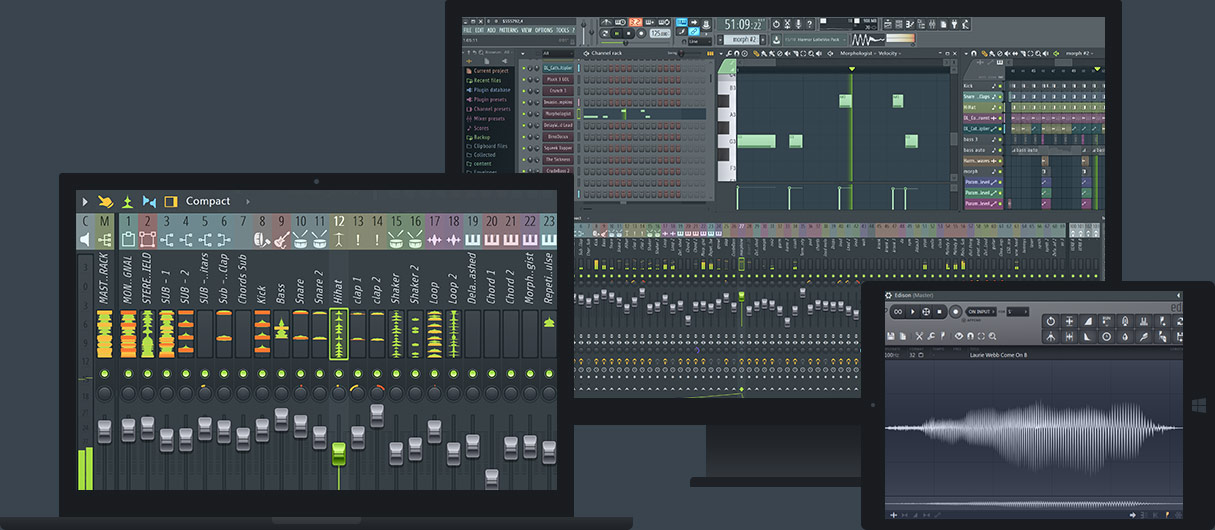 A screenshot of Fruity Loops 12