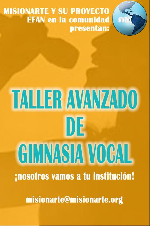 Taller avanzado de gimnasia vocal