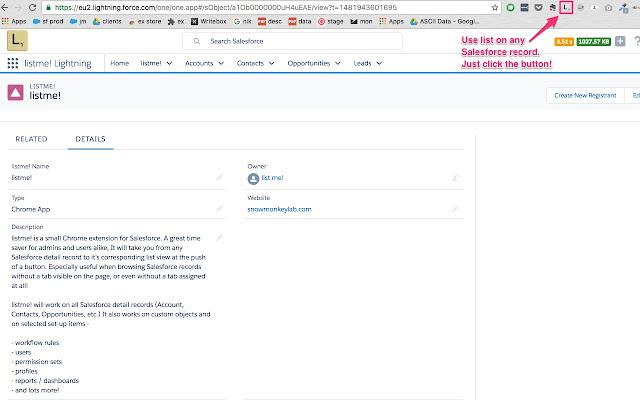 list me! for Salesforce