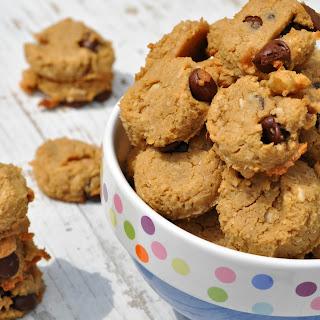 2-Bite Flourless Chocolate Chip Cookies.