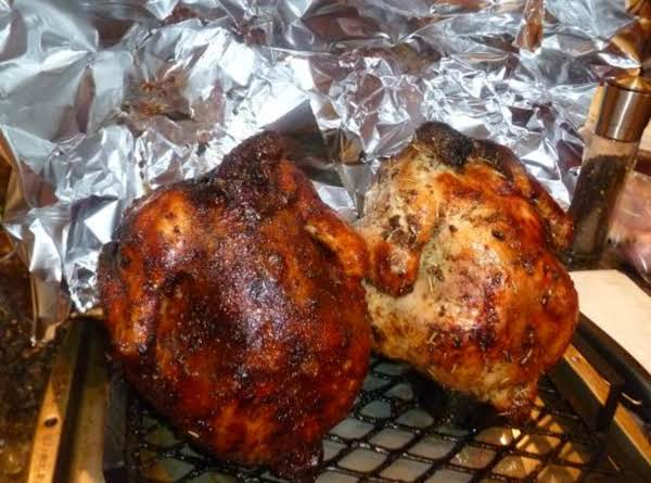 Wine-steamed Beer Can Chicken