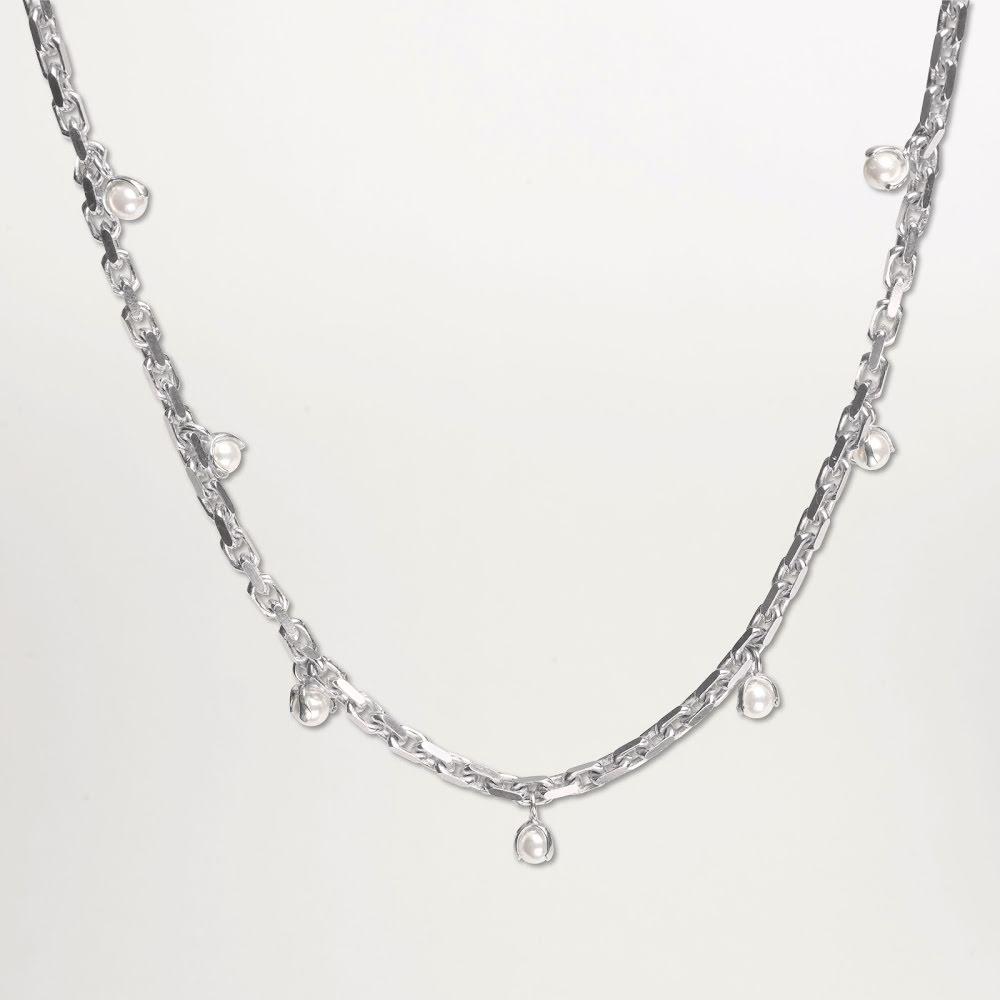Cornelia Webb, silverhalsband med sötvattenpärlor