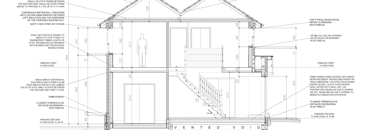 blueprint of a stwo storey home