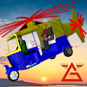 Flying Tuk Tuk Air Helicopter Futuristic Rickshaw icon