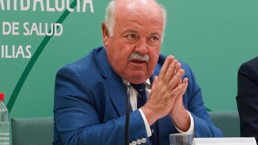 El consejero andaluz de Salud, Jesús Aguirre.