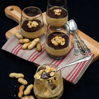 Vegan Chocolate Peanut Butter Puddings