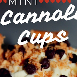 MINI CANOLLI CUPS.
