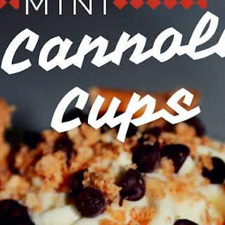 MINI CANOLLI CUPS.