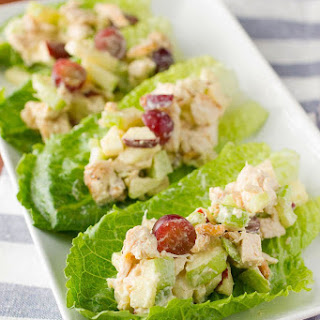 Chicken and Apple Salad Lettuce Cups.