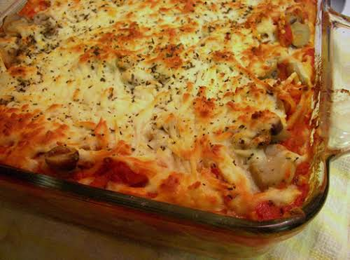 "Recipe Here: Baked Cream Cheese Spaghetti ""I just baked this tonight. And..."