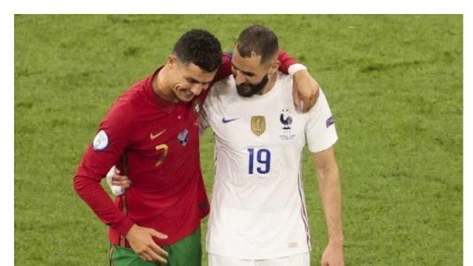 Berita EURO 2020 - Ini Bisikan Karim Benzema ke Cristiano Ronaldo - Bolasport.com