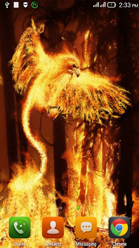 Bird in a burning forest LWP