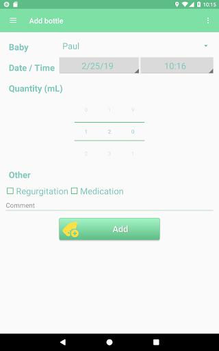 MesureBib - Baby diary (Bottles, diapers and more) 3.3 screenshots 6