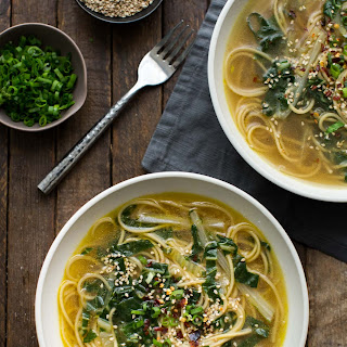 Ginger Bok Choy Soup with Noodles.