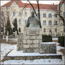 Photo: Str. Dr. Ioan Ratiu, Nr.111 - Colegiul Mihai Viteazul, Bustul lui Pavel Dan - 2017.01.26