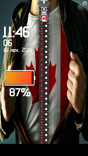 カナダの旗ジッパーロック