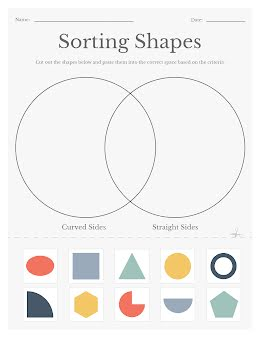 Shape Sorting - Venn Diagram item