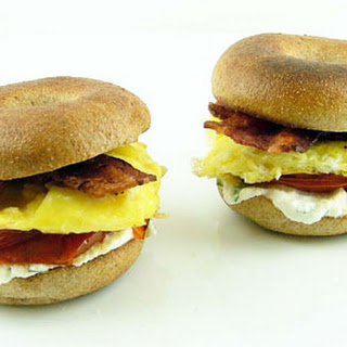 Mini Bagel Breakfast Sandwiches