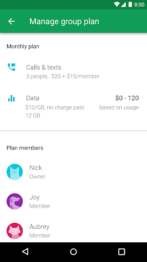 Screenshot 5 for Project Fi's Android app'