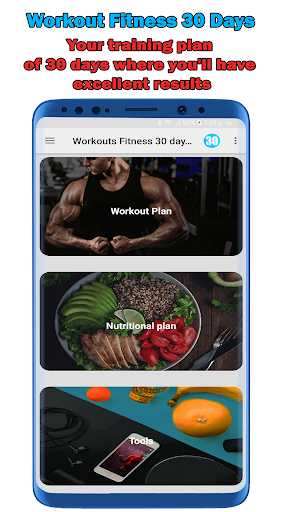 Fitness Workouts 30 Days: Routines Gym Pro screenshot 1