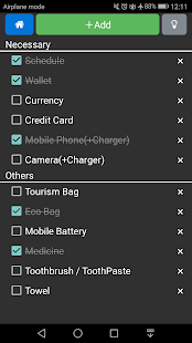Packing list for domestic travel- screenshot thumbnail