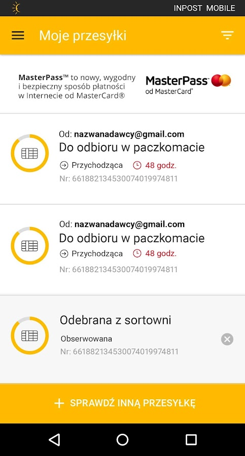 InPost Mobile- screenshot