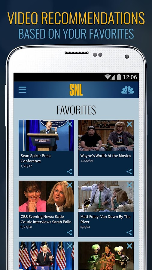 The SNL Official App on NBC- screenshot
