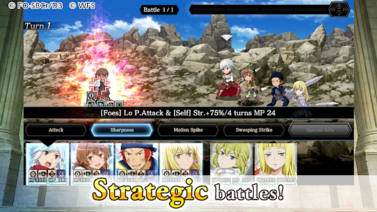 DanMachi – MEMORIA FREESE Mod Apk Download For Android and Iphone 6