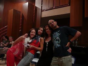 Photo: my - od lewej Magda, Małgorzata i Ewa - z naszym profesorem palmas El Gamba de Jerez