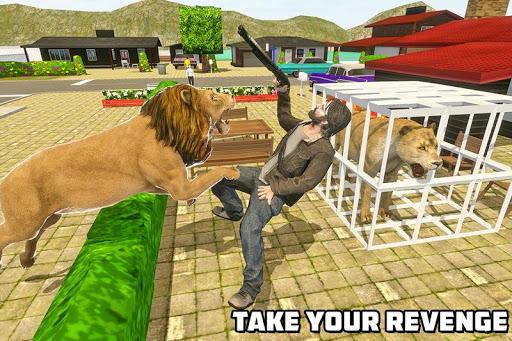 Angry Lion Sim City Attack screenshot 5