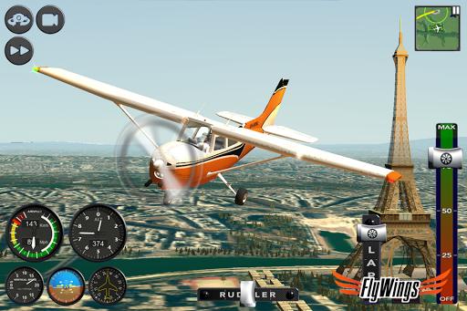 Flight Simulator 2015 Flywings - Paris and France apkpoly screenshots 3