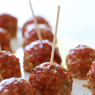 Sweet 'n Spicy Turkey Meatballs with Bacon and BBQ Sauce