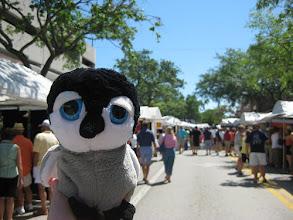 Photo: Carlisle visits a downtown Tampa Art show.