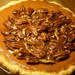 Bourbon Pumpkin Pecan Pie