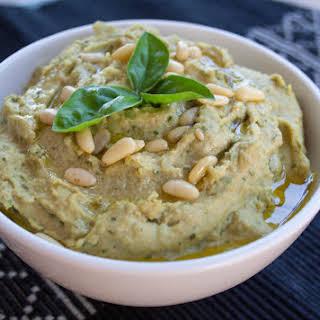 Basil Pesto Hummus.