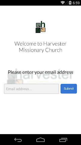 android Harvester Missionary Church Screenshot 1