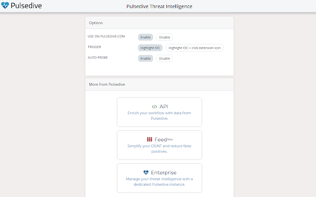 Pulsedive Threat Intelligence