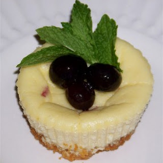 Slender Mini Blueberry Cheesecakes