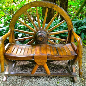Wheel bench on Barbados by Marianne Ang - Artistic Objects Furniture ( barbados, wheel, bench )
