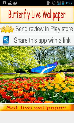 Mariposa Fondos Animados