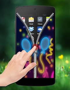 Neon Zipper Lock screenshot