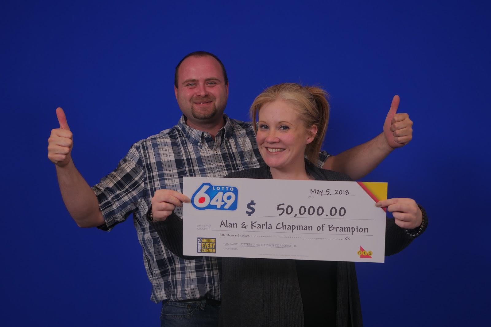 Brampton Couple Celebrating Big Lotto Win | inbrampton.com