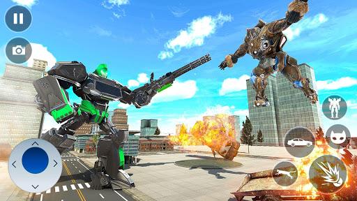 Cat Robot Car Transformation War Robot Games  screenshots 14