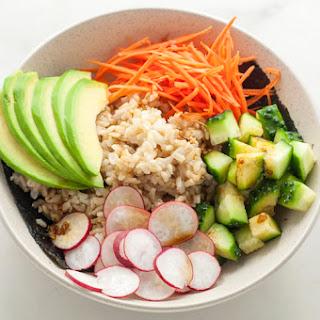 Healthy California Roll Sushi Bowl.